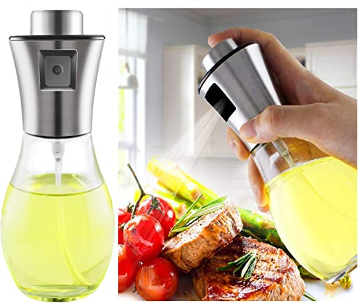 Olive Oil Sprayer for Cooking Glass Transparent Vinegar Bottle Dispenser Hot