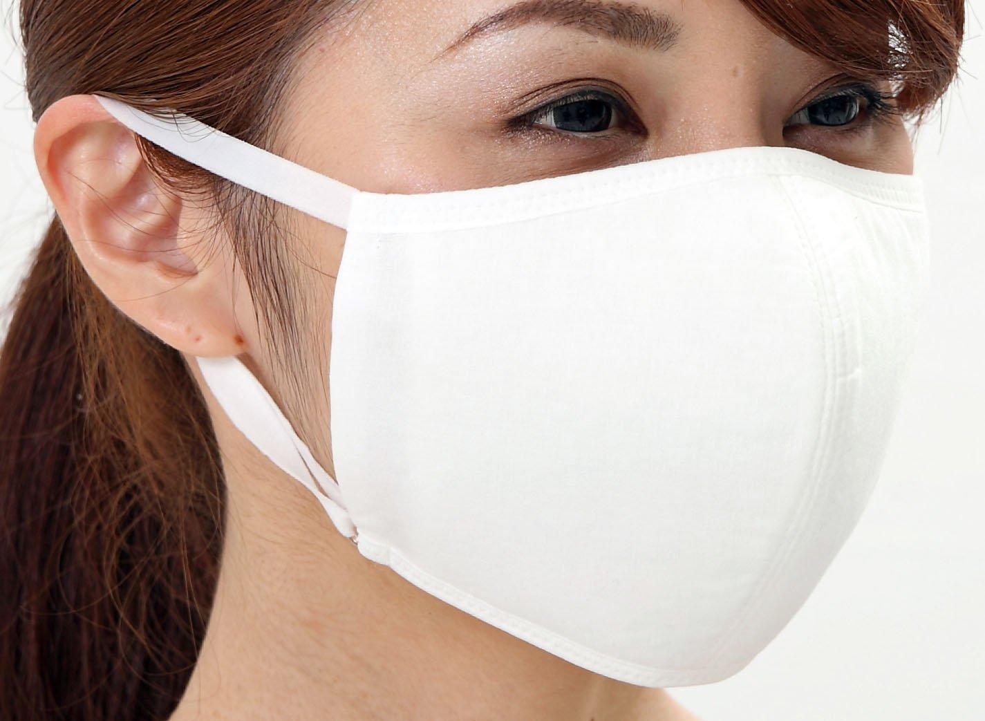 Tuyon Moisture Mask With UV protection, Washable Reusable 2 White