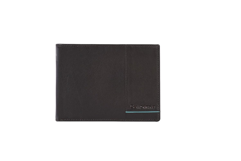 13 cm SAMSONITE Outline 2 SLG Wallet f/ür 14 Kreditkarten 2 Compartments Ebony Brown//Turquoise