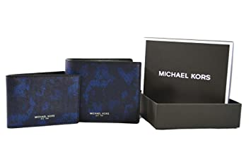 8e67cb8c6f5f Michael Kors Mens Billfold with Passcase Wallet with Gift Box (Indigo)