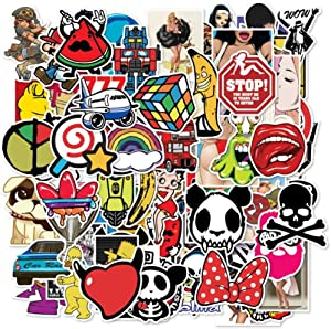 Car Stickers 100 pcs Waterproof Graffiti Stickers Laptop Motorcycle Bicycle Luggage Decal Patches Skateboard Stickers for Adult