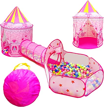 Princess Castle Luminescent Tent Kids Ball Pit Play Tent Toy Garden Activity