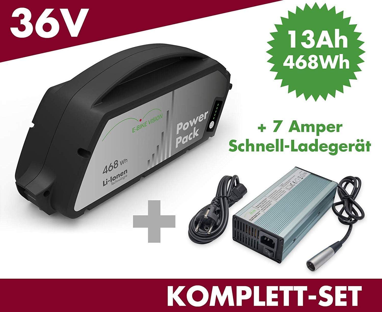 Set E-Bike batería de Repuesto Power Pack 13 Ah 468 WH 36 V para Bosch Classic Tubo Inferior + Cargador: Amazon.es: Deportes y aire libre