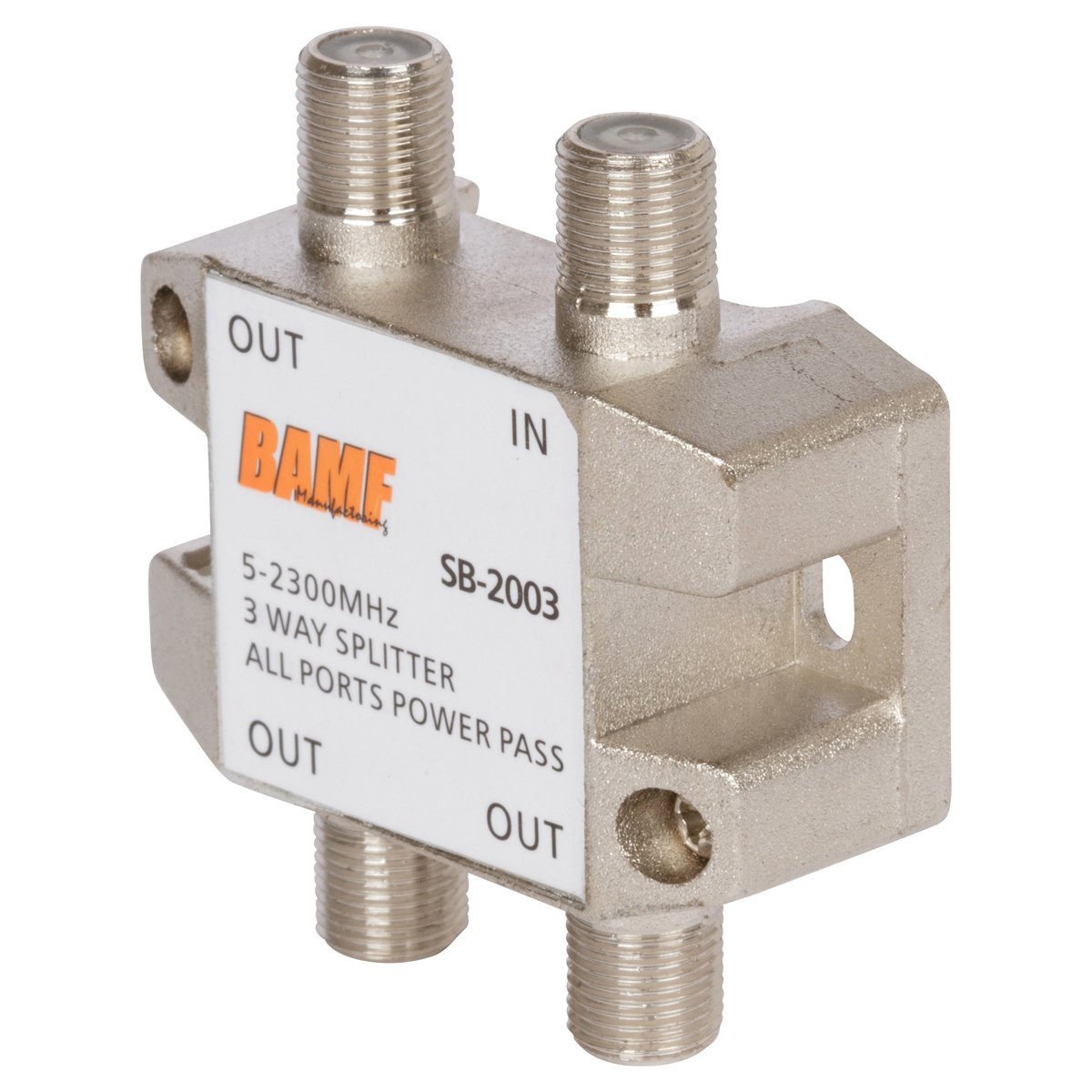 BAMF 3-Way Coax Cable Splitter Bi-Directional MoCA 5-2300MHz by BAMF Manufacturing (Image #3)