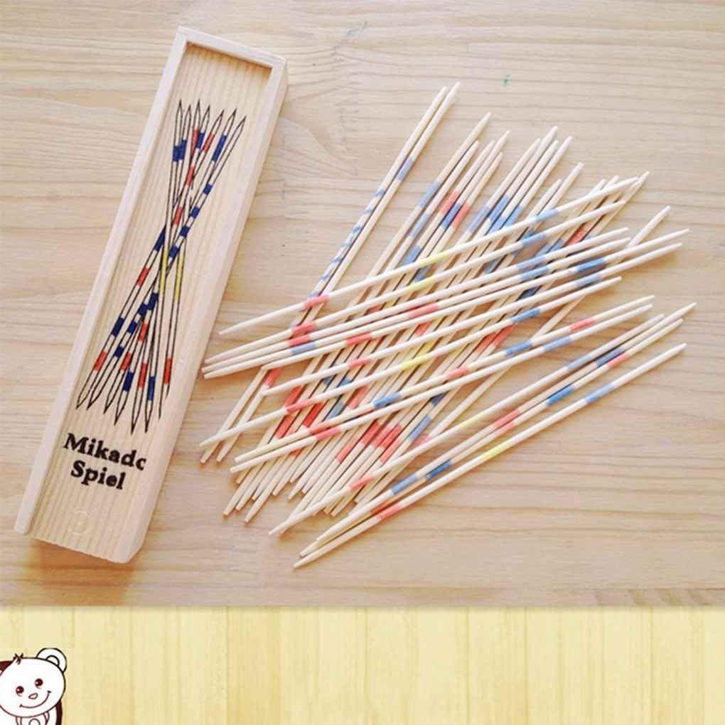 Gankmachine Educativi del bambino di legno Pick Up Sticks tradizionali Mikado Spiel con la scatola del gioco