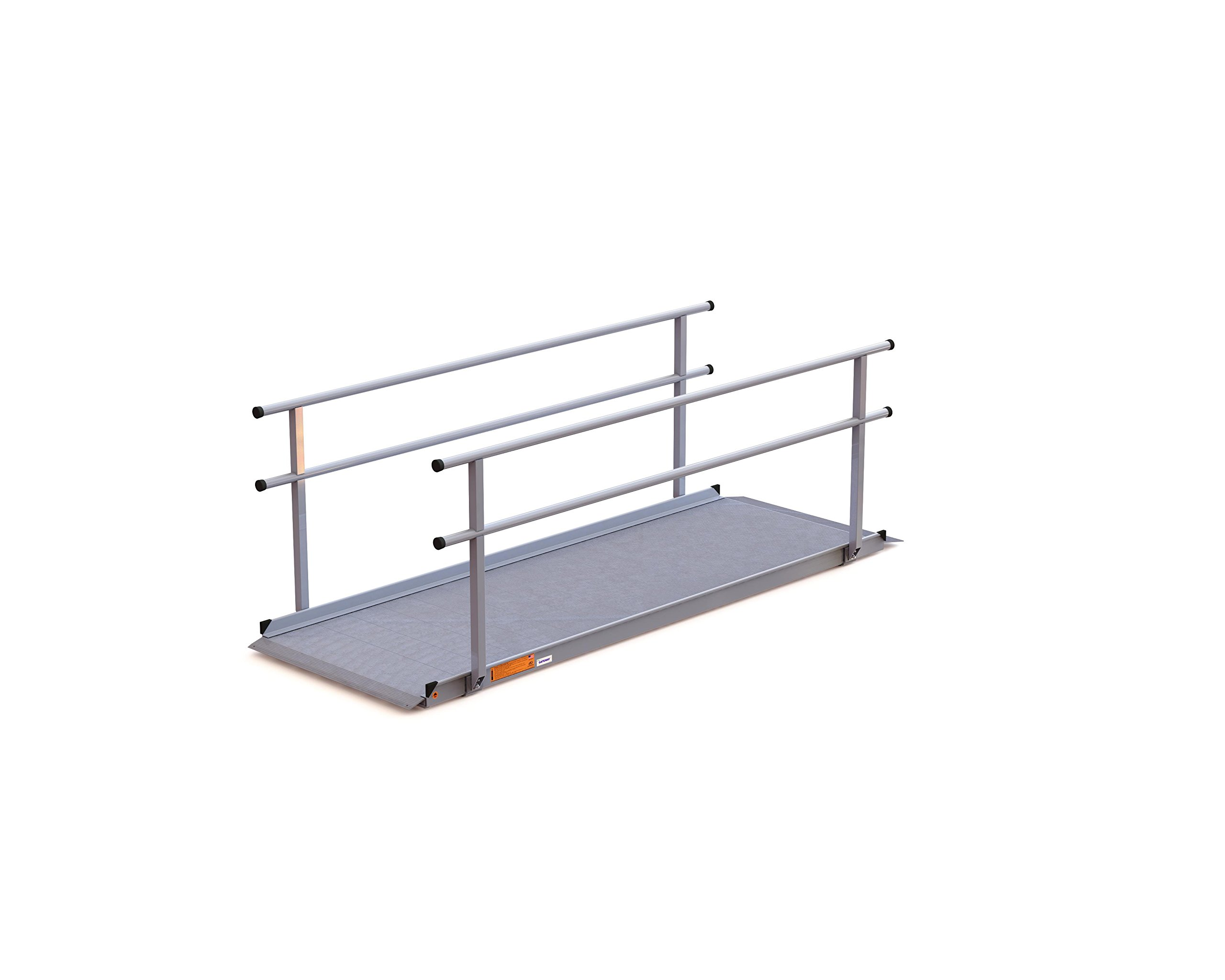 EZ-ACCESS Gateway Ramp with Handrails, 9 Feet