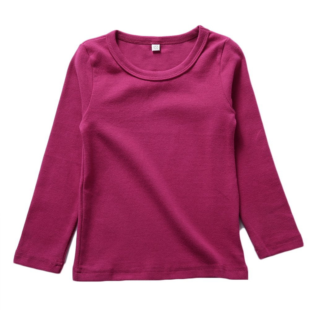 KISBINI Unisex Girls 100% Cotton Long Sleeve T-Shirt Top Tees