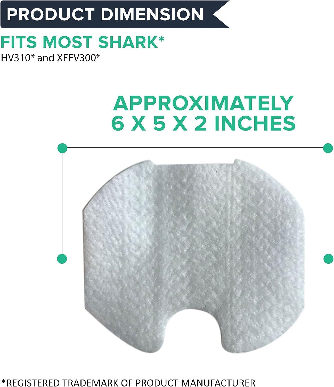 HQRP Filtro de Espuma para Shark Rocket Ultra Light HV300 HV310 UV450 Aspiradora