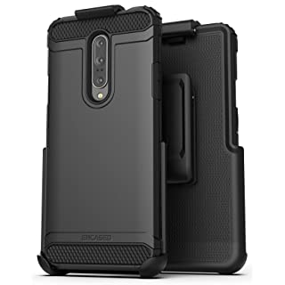 Encased OnePlus 7 Pro Belt Case Heavy Duty Scorpio Armor with Holster Clip - Black (2019 Release)