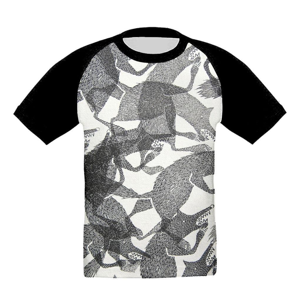 Wolf Animal Unisex-Child T Shirt Baby Toddler Tee Round-Neck Short Sleeve Shirt