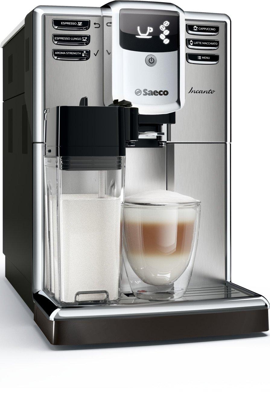 Saeco Incanto HD8917/47 - Cafetera (Independiente, Máquina espresso, 1,8 L, Molinillo integrado, 1850 W, Negro, Acero inoxidable): Amazon.es: Hogar