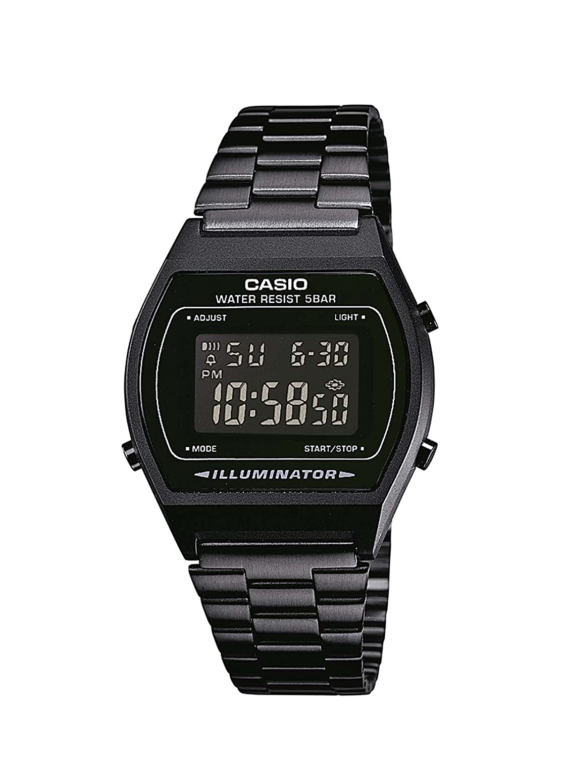 Casio Collection – Reloj Unisex Digital con Correa de Acero Inoxidable – B640WB