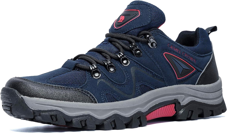 CAMEL CROWN Hiking Shoes Men Waterproof Non Slip Sneakers Low Top for Outdoor Trekking Walking