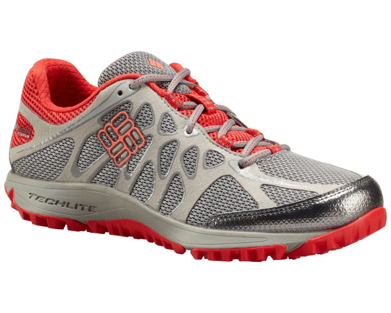 Columbia Women's Conspiracy Titanium Trail Outdoor Sneakers, Grey Mesh, 7.5 M