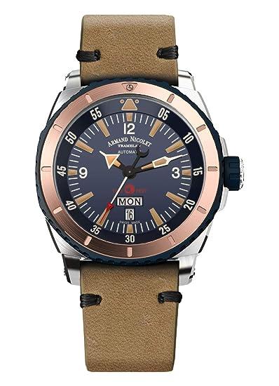 Armand Nicolet D713MGN-BU-PK4140CA S05-3 - Reloj de Pulsera automático para Hombre con Fecha y día de la Semana: Amazon.es: Relojes
