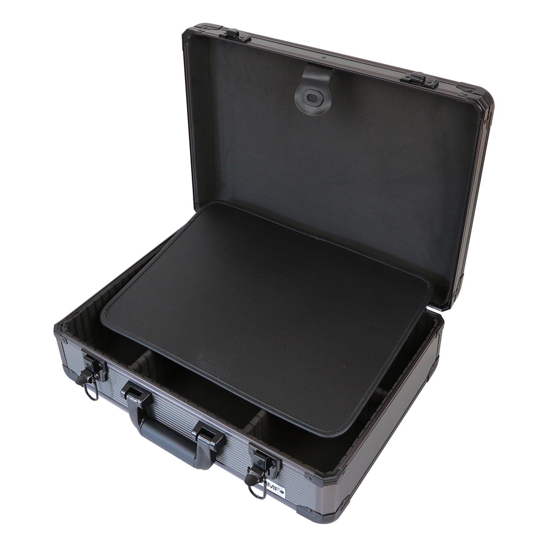 HMF 14601-02 Cassetta Degli Attrezzi Valigia Universale 46 x 15 x 33 cm Alluminio Scomparti Individuali