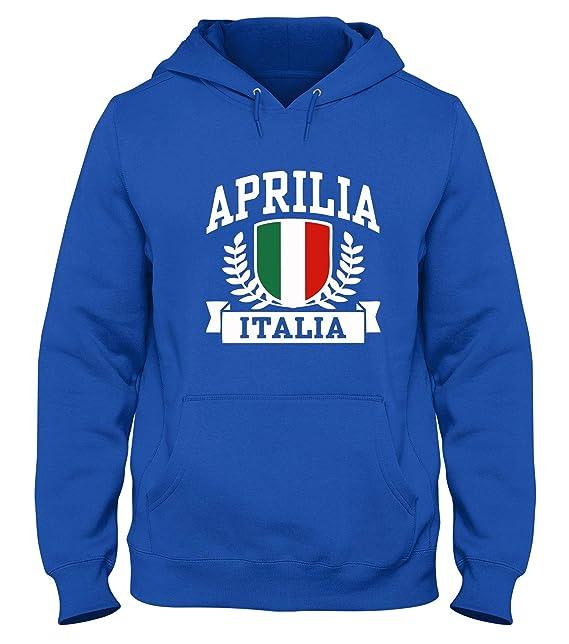 Speed Shirt Sudadera con Capucha Azul Royal TSTEM0264 Aprilia Italia: Amazon.es: Ropa y accesorios