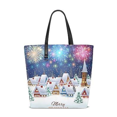 Amazon.com: Bolsos para mujer árbol de Navidad Casa de la ...