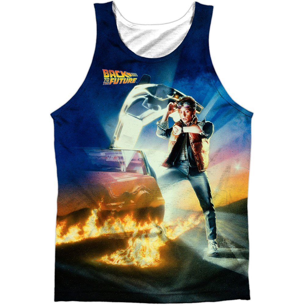 Back to the Future SyFy Comedy Movie Film Poster Front/Back Print Tank Top Shirt Trevco