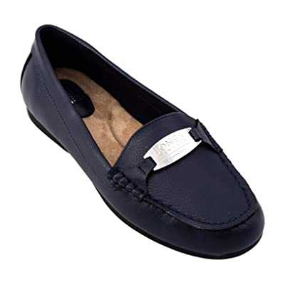 Jones New York Women's Jamie II Loafer, Navy Smooth Tumbled, 6 M   Loafers & Slip-Ons