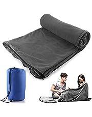 Saco de dormir Liner Forro Polar de microfibra manta de viaje Camping hoja saco de dormir
