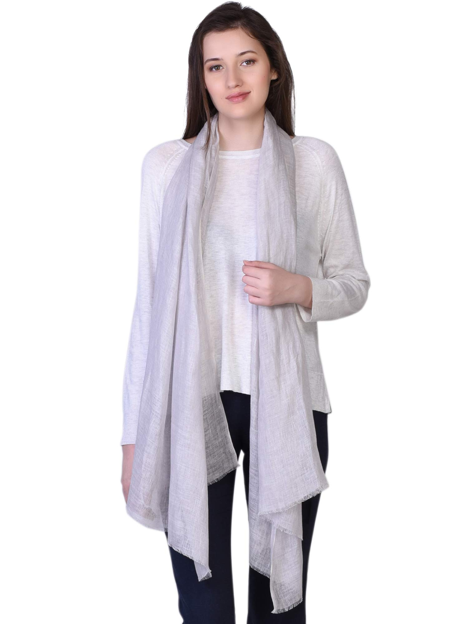 100% Linen Scarf Autumn Collection 2018-19 Womens Mens Fashion Solid Stole Shawl Pashmina by KASHFAB