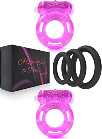 4f444f9609c Cock Ring Sex toys for men - Cockring Set male sex toys - Vibrating Cock