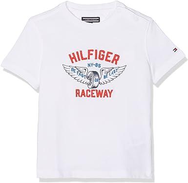 Tommy Hilfiger Raceway Applique tee S/S Camiseta para Niños: Amazon.es: Ropa y accesorios