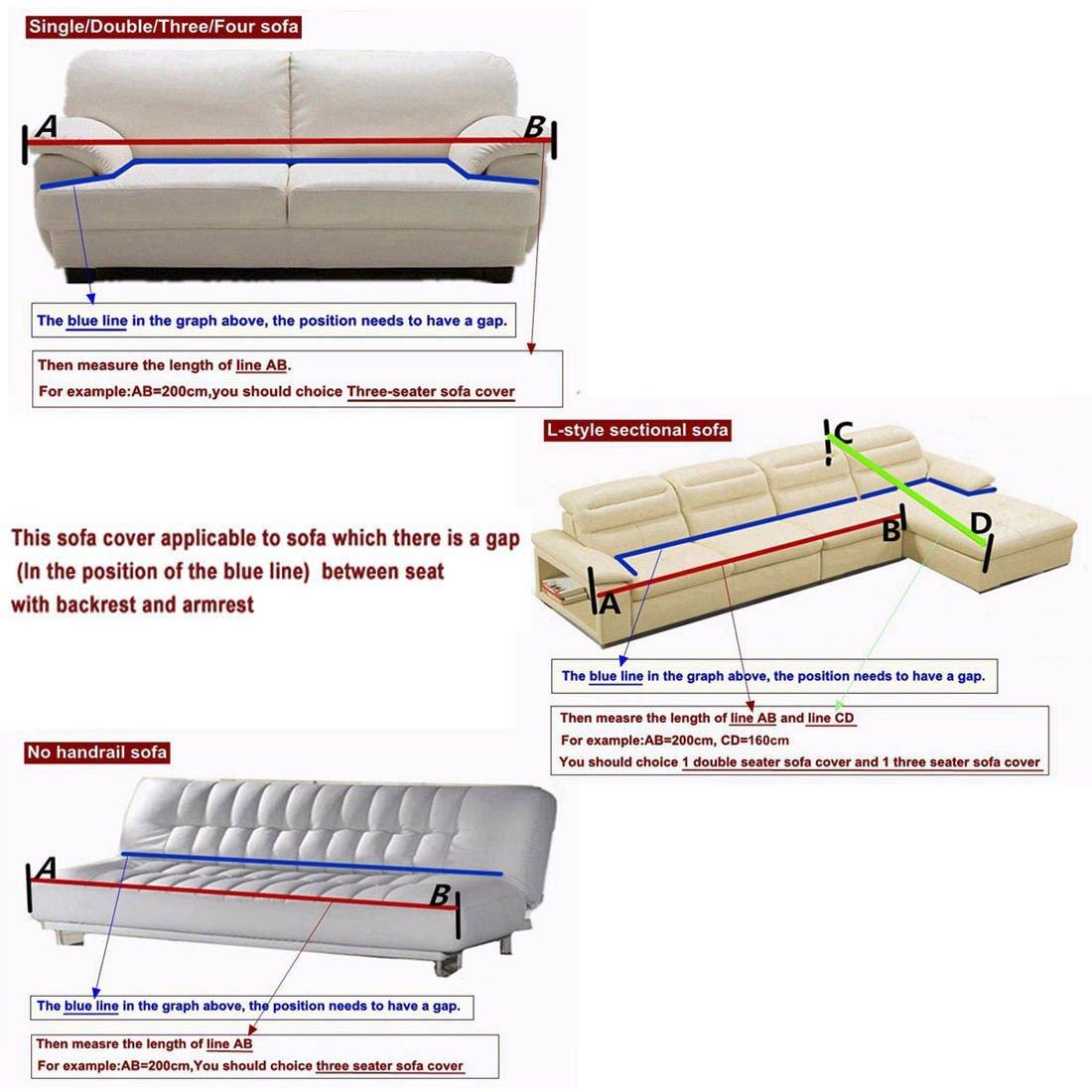 Amazon.com: eDealMax Cubre Sillas Sofá hoja de la cubierta Funda Protector de estiramiento cubierta de asiento del Mueble de casa 3 plazas elástica recubre ...