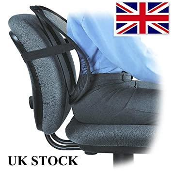 lumbar lower back support cushion pain relief car seat chair office