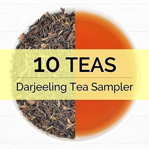 Darjeeling Tea Sampler - 10 TEAS, 50 Servings | 100% Pure Unblended Darjeeling Tea Loose Leaf