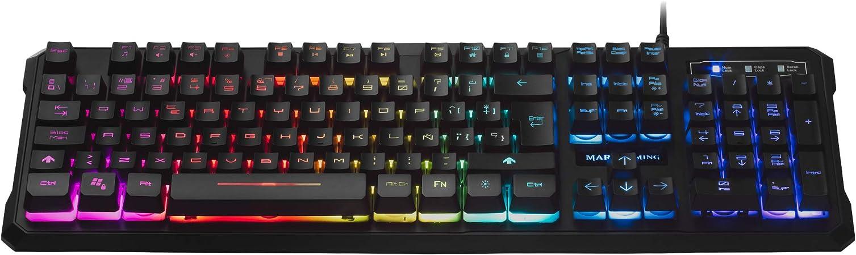 Mars Gaming MK218 Teclado RGB H-Mech, Antighosting, Layout Español ...