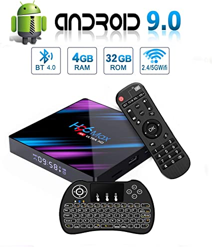 Android 7.1 Smart set top TV Box Quad core WIFI BT4.1 4K Media Player Keyboard
