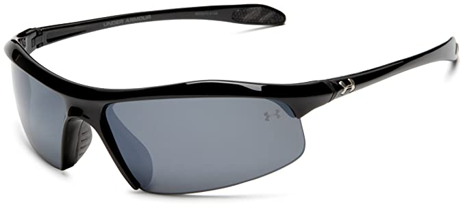 Under Armour Zone Sunglass Shiny Black Frame W  Gray Polarized W   Multiflection Lens 718b1a0954