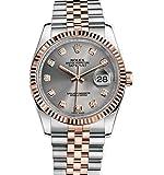 Rolex Datejust 36 Steel Rose Gold Watch Steel Diamond Dial 116231