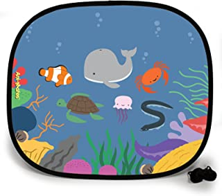 123t ANI-MATES UNDER THE SEA WHALE PARTY DESIGN PLAIN Sunshade x 2