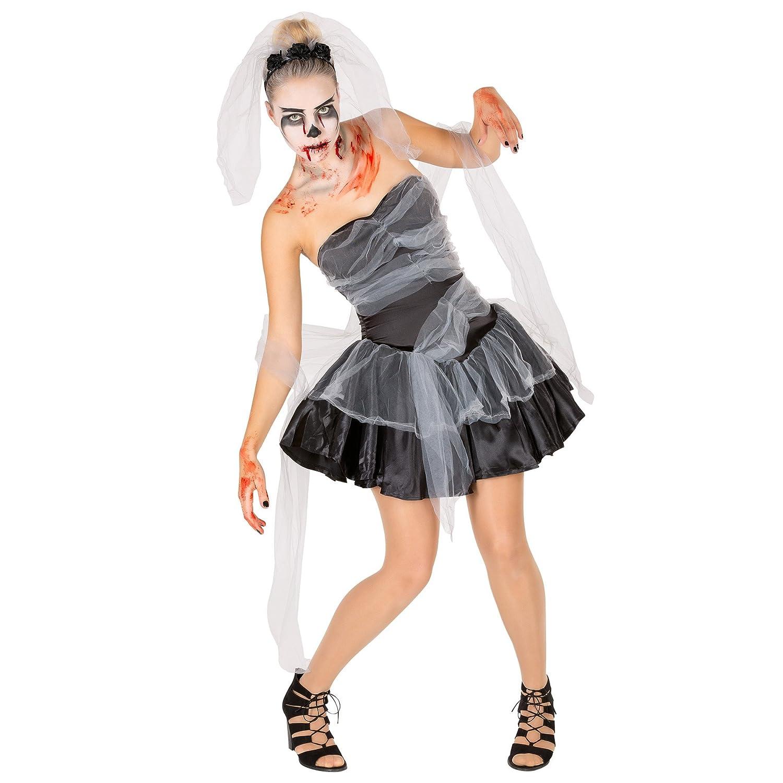 TecTake dressforfun Disfraz de Viuda Negra para señora | Vestido ...