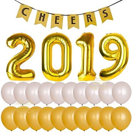 Amazon.com: Kits de fiesta de año 2019 – 40 pulgadas gigante ...