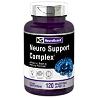 Neuro Support Supplement   120 Capsules   Advanced Brain Formula for Memory, Focus, Clarity   Vegetarian, Non-GMO & Gluten Free   Brain Support   by Horbaach