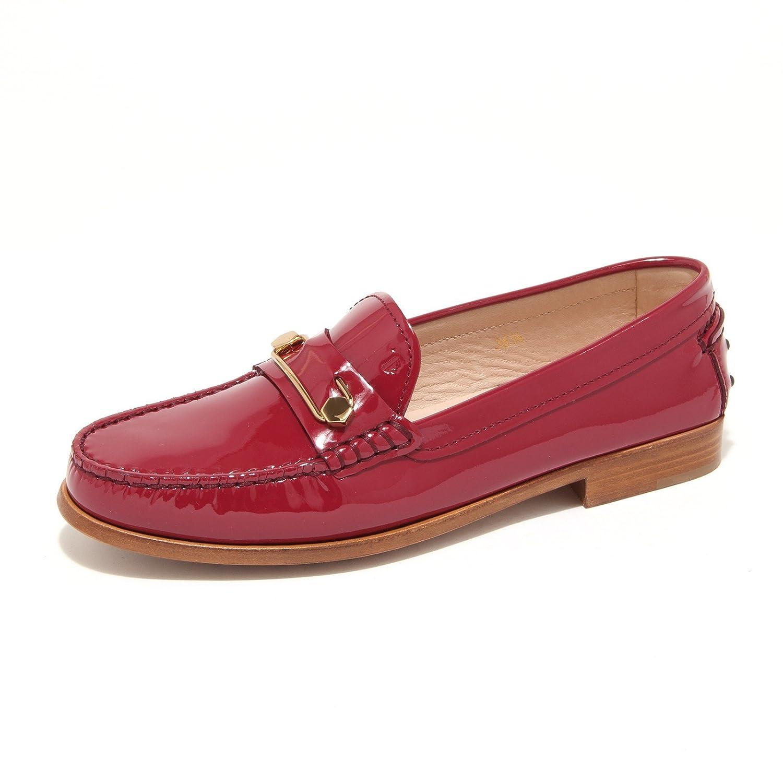 7868L mocassini donna TOD'S cuoio mascherina spilla scarpe loafers shoes womenMagenta Scuro