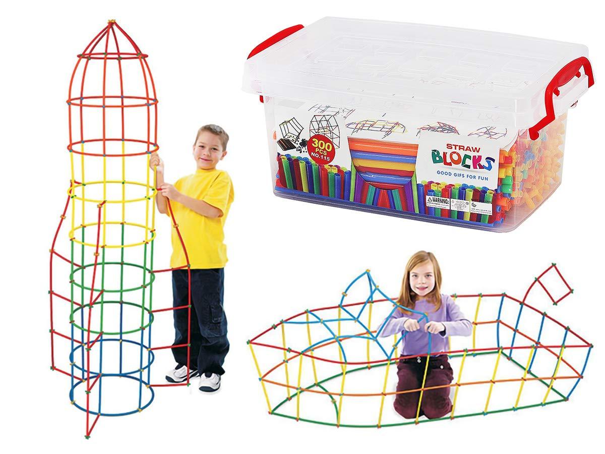 Toys & Hobbies Steckstäbe Blöcke Elemente Farben Strohhalme Verbinder Sticks Bauen Games