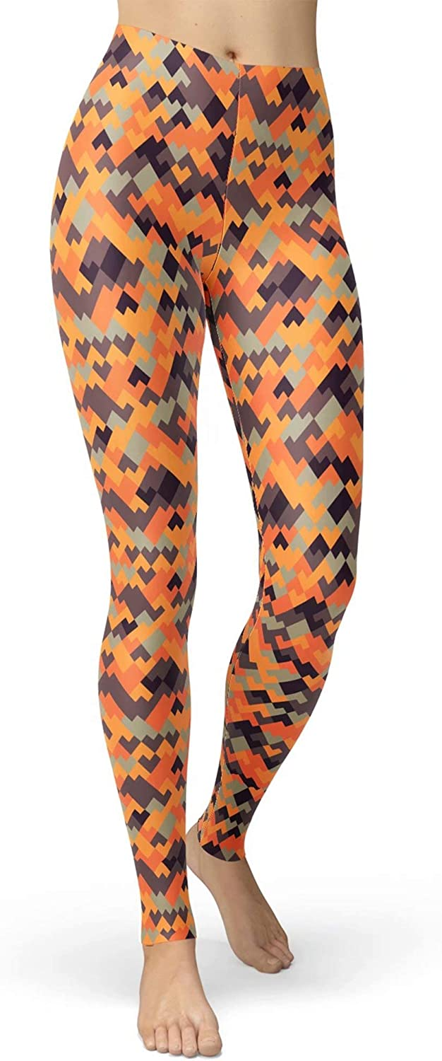 sissycos Women's Printed Leggings Brushed Buttery Soft Pants Regular and Plus Size