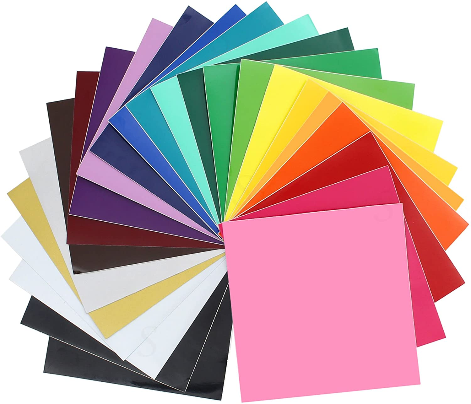 "Oracal 651 Glossy Vinyl - 24 Pack of Top Colors - 12"" x 12"" Sheets: Home & Kitchen"