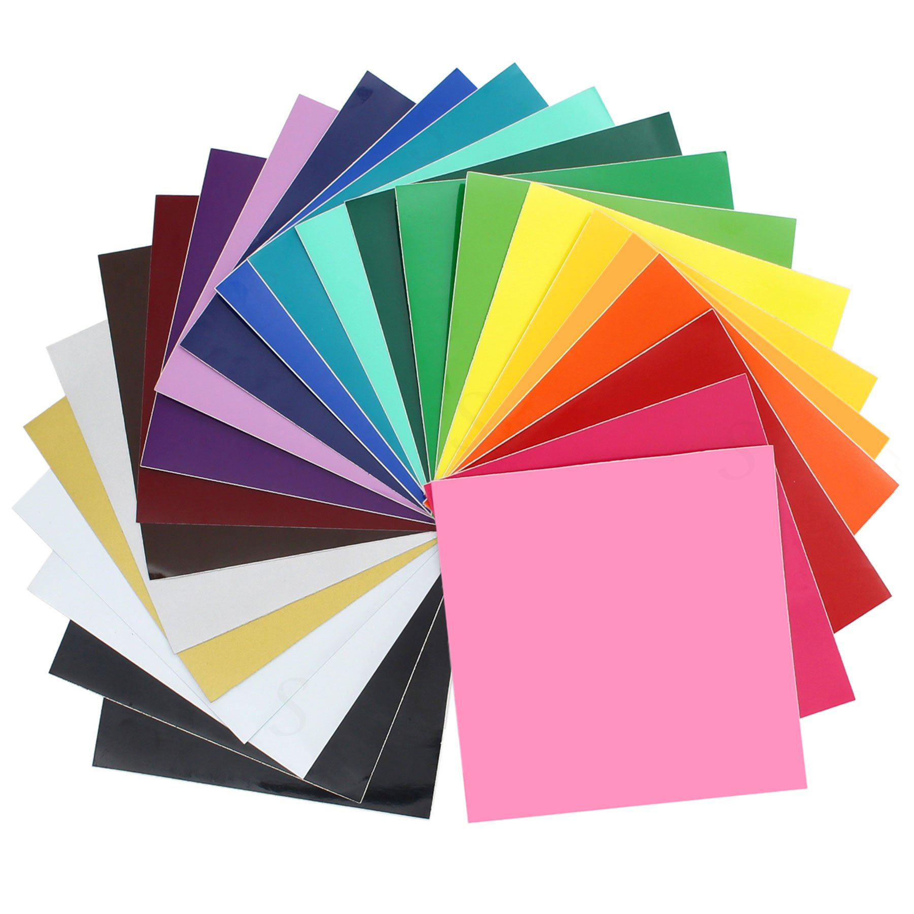 "ORACAL 651 Glossy Vinyl - 24 Pack of Top Colors - 12"" x 12\"" Sheets"