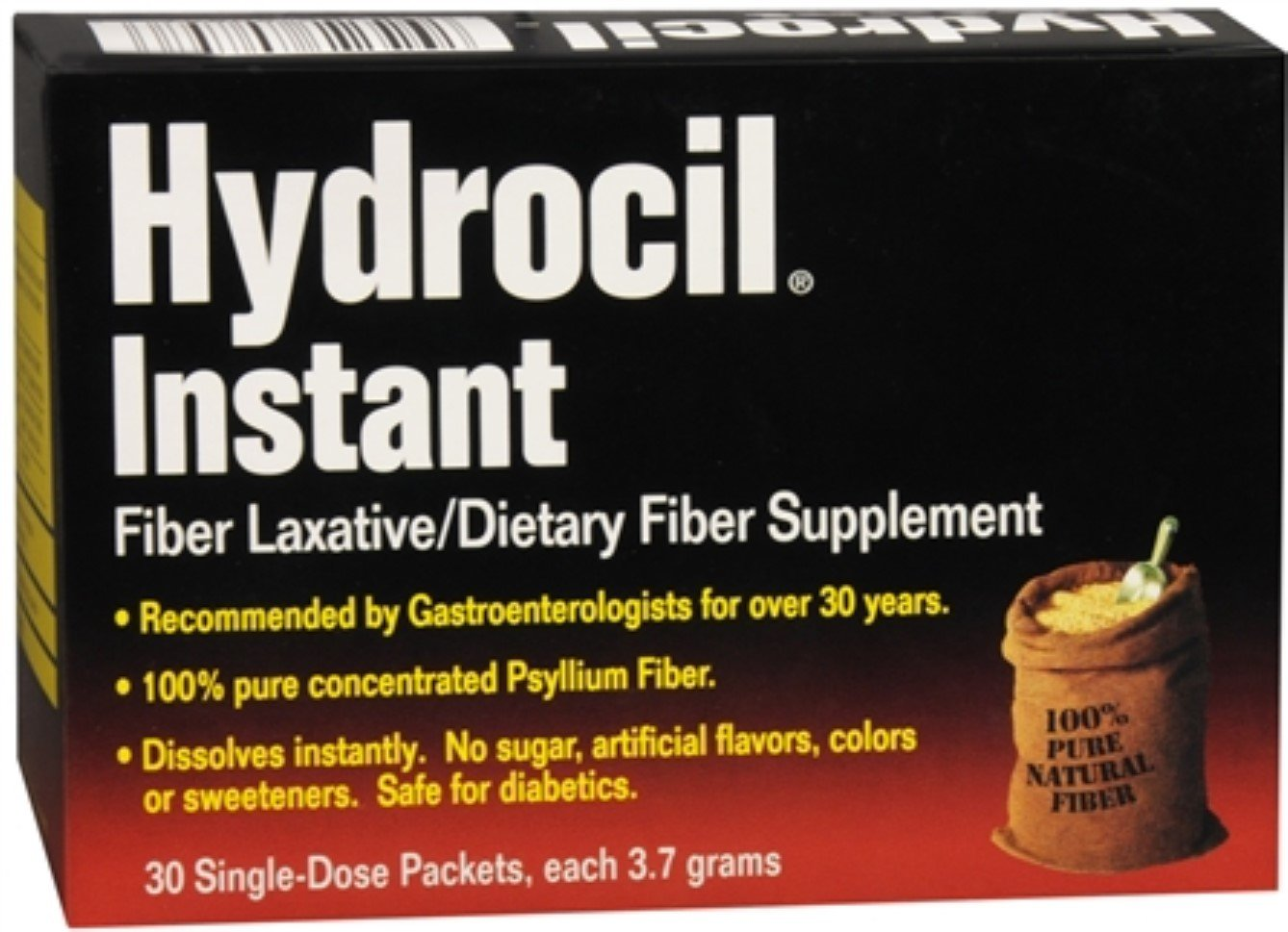 Hydrocil Instant Fiber Laxative Packets 30 Each (Pack of 7)