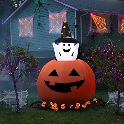Amazon Com Yunlights 4ft Halloween Inflatables Ghost