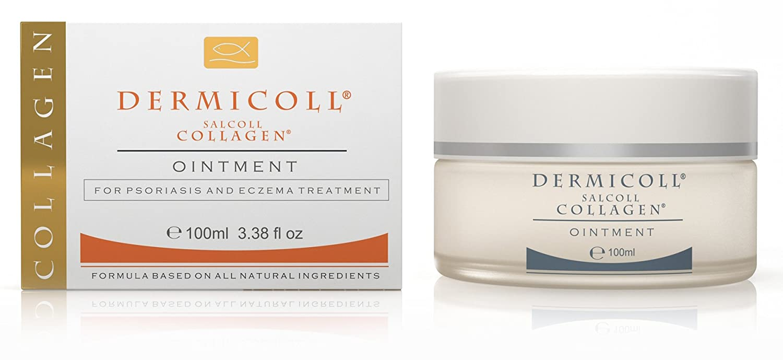 Eczema Psoriasis Ointment Treatment, Steroids Free, 3.38oz / 100ml Salcoll Collagen