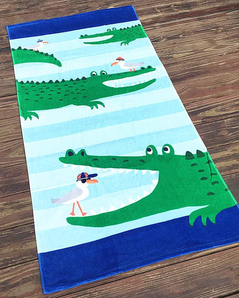 Gar/çons Filles Sortie de Bain Adultes Natation Ponchos Hommes Femmes Animaux Peignoir 100/% Coton Peignoir de Bain ,Baleine Bleue,160 80cm GUOCU Enfants Serviette de Bain de Plage Poncho