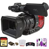 Panasonic AG-DVX200 4K Professional Camcorder (AG-DVX200PJ8) W/ 64GB Memory Card, Cleaning Set and More.