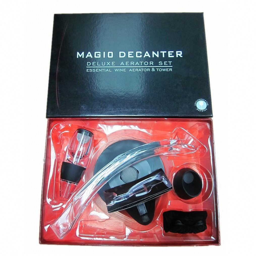 Magic Decanter Deluxe Red Wine Aerator Gift Set SODIAL R